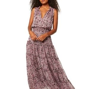 MISA Los Angeles Hollen Chiffon Maxi Dress